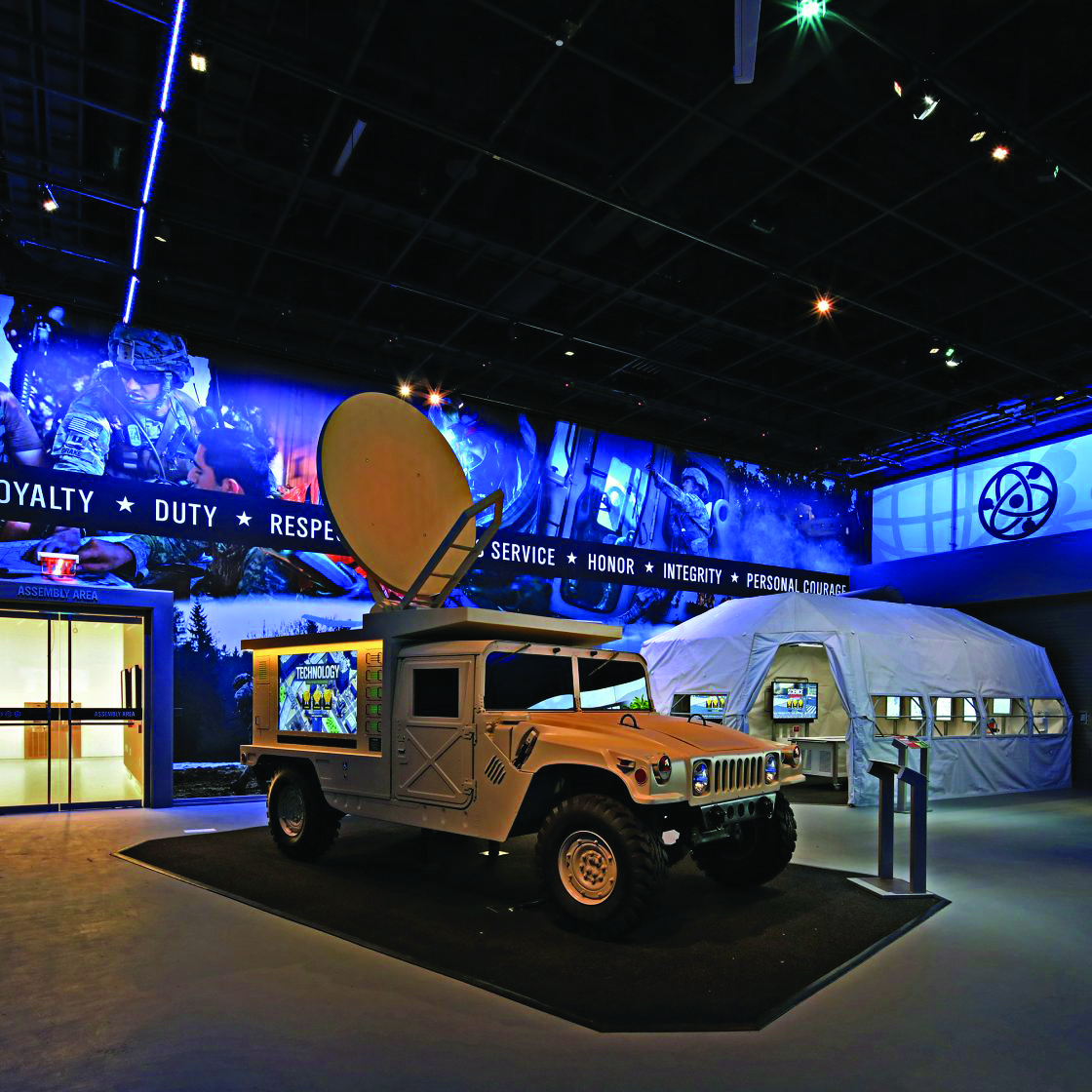 Museum features like the Experiential Learning Center provides a unique and immersive learning space for visitors and groups to participate in hands-on G-STEM learning activities and working in small teams to solve an Army humanitarian mission. (The Army Historical Foundation, Duane Lempke)